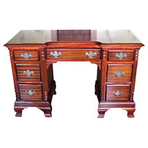 Chippendale Mahogany Vanity Writing Table Desk Console Bedroom Set Side End - $1,512.99