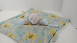 Blankets & beyond Gray blue plush Elephant baby Security Blanket pacifie... - $12.86