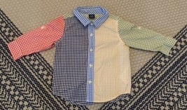 Baby Gap Boy's Button Up Shirt Size 18-24 Months Multicolored  - $12.19