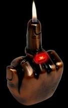 Middle Finger Refillable Lighter Adjustable Regular Flame - 1 w/ Random Color image 2