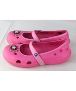 Crocs youth girls clog sandals rubber Mary Jane pink size C 12 - $13.01