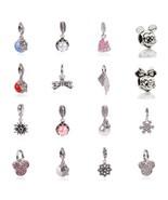 Shipping 1pcs silver bead charm european silver with mickey cartoon charm pendant bead thumbtall