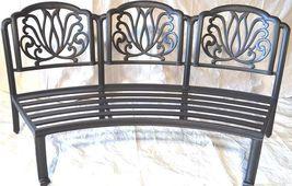 Cast Aluminum Curved Outdoor Sofa Elisabeth 2 Piece Patio set Desert bronze image 4