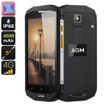 Rugged Android Phone AGM A8 SE - IP68, Android 7.0, Dual-IMEI, 4G, Quad-... - $187.74