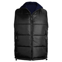 Maximos Men's Reversible Full Zip Puffer Vest New /w Defect Black/Navy size M