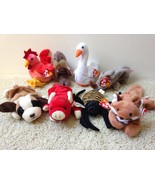 BELOW WHOLESALE LOT 8 ASSORTED NEW but RETIRED TY Beanie Babies BEANIES NWT - $15.67