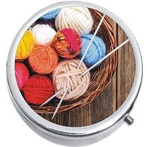 Knitting Medicine Vitamin Compact Pill Box - $9.78