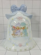 Precious Moments Collector  Bell Boy & Girl sledding Time together to sh... - $8.95