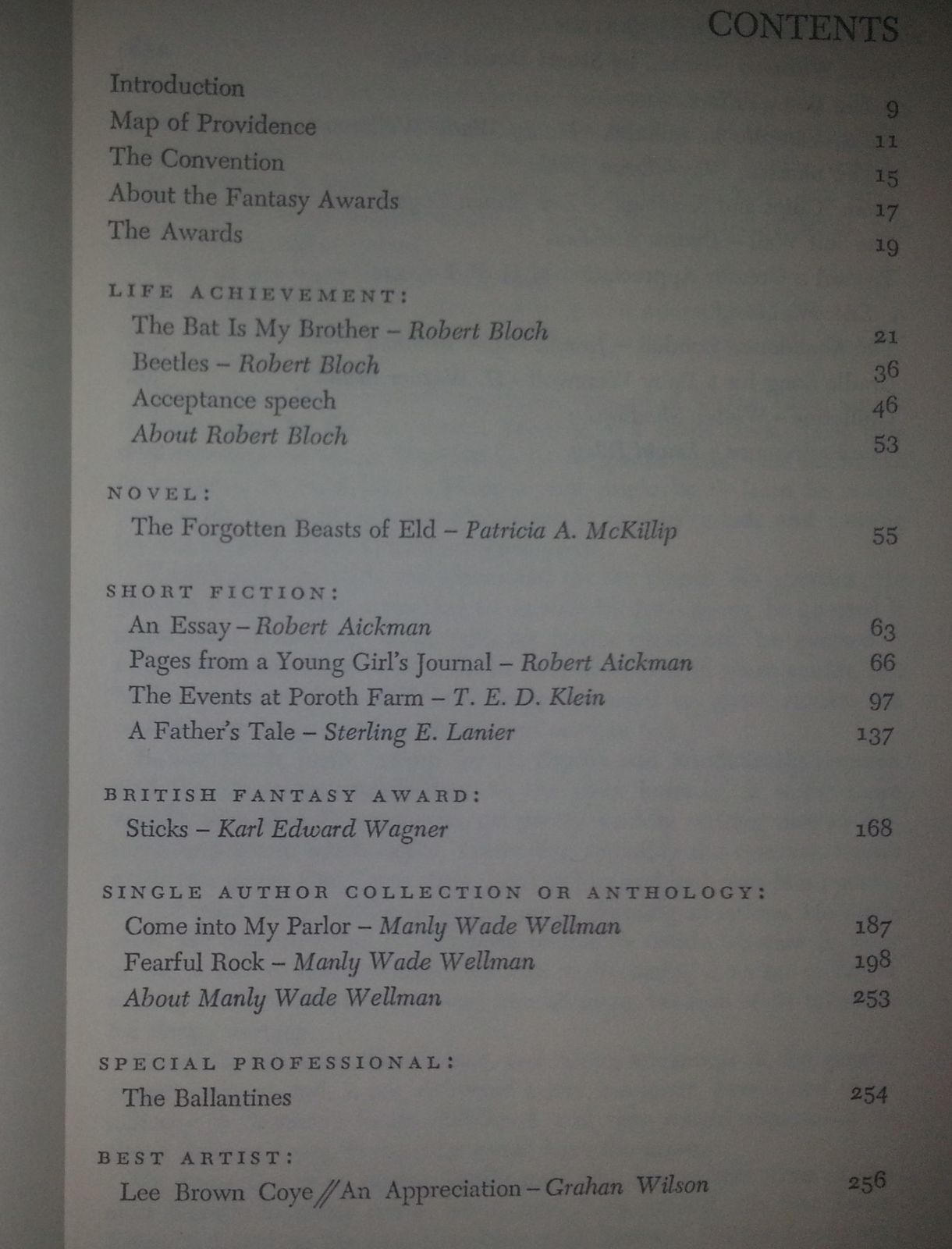 First World Fantasy Awards Edited by Gahan Wilson 1977 HBDJ