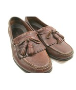 Bert Pulitzer Mens Brown Leather Kilted Tassel Moc Toe Loafers Size US 9... - $28.42