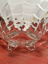 """VINTAGE  American Four Footed Glass Bowl w Flared Top Edge 10""""x4"""" image 11"""
