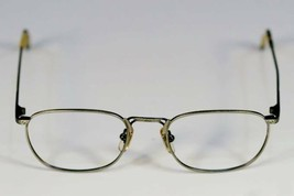 Fossil SHORT BLOCK Brush Silver Metal Eyeglass Frames Designer Style Rx Eyewear - $9.12