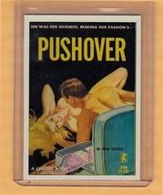 Pushover by John Dexter promo card book mark GGA pulp fiction sleaze novel - $2.24