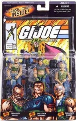 Primary image for Gi Joe 3 Pack #75 Dreadnok Ripper , Thrasher , Buzzer