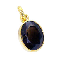 comely Smoky Quartz Gold Plated Brown Pendant Fashion wholesales US - $5.93