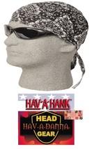 Hav-A-Hank-Danna Schwarz Paisley Do Doo Rag Angepasst Gebunden Kopftuch - $6.97