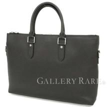 LOUIS VUITTON Anton Briefcase Taiga Leather Noir M33416 France Authentic... - $1,173.15