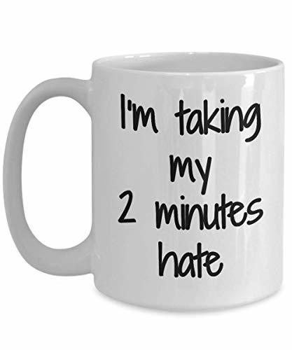 Primary image for Two Minutes Hate Mug 2 Sarcastic Coffee Tea Cup Funny Gift Idea for Novelty Gag