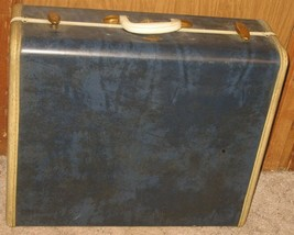 "Vtg Samsonite Cobalt Blue Marbled Distressed 21"" Hardside Suitcase Luggage - $48.51"