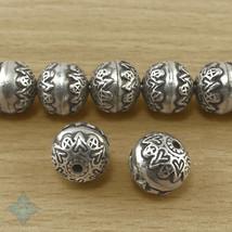 Thai Karen Hill Tribes Silver Round Beads 12mm (2) | KBA009 - $9.60