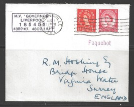1962 Paquebot Cover, British stamps used in Brownsville, Texas - $5.00