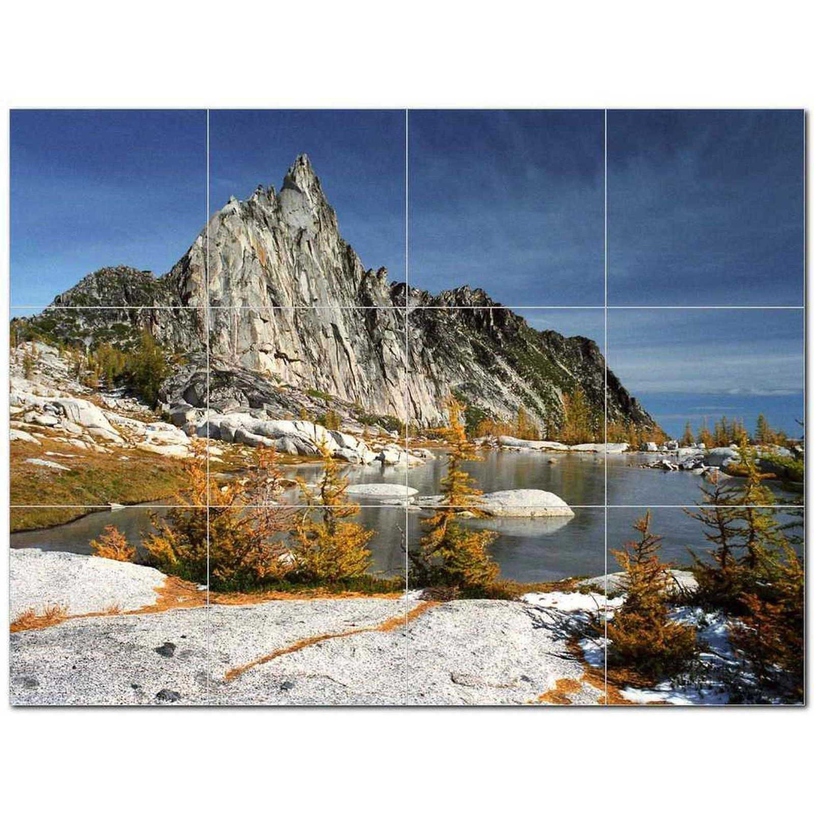 Primary image for Mountain Photo Ceramic Tile Mural Kitchen Backsplash Bathroom Shower BAZ405525