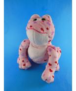 Ganz Webkinz Pink Heart Plush Stuffed Animal Love Frog red & purple hear... - $7.91