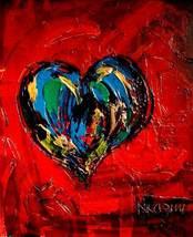 Wild HEART   FINE ART original oil painting MODERN ABSTRACT IMPRESSIONIS... - $98.00