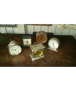 5 Antique Alarm Clocks 1880-1905 Waterbury Carriage Westclox Etc - $88.11
