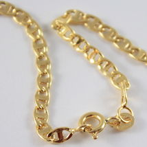 18K GOLD YELLOW CHAIN, SAILORS NAVY MARINER, FINELY WORKED, SHINY, MADE IN ITALY image 3