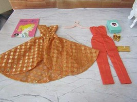 1963 Vintage Mattel Barbie #946 Dinner Ast Eight Complete Outfit Exc Plus W/PURS - $79.15
