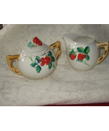 Handpainted Strawberry Creamer & Sugar Bowl-Japan - $11.00