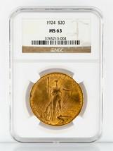 1924 Or St.Gaudens Double Aigle Gradé Par NGC Comme - $2,474.99
