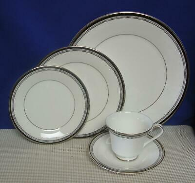 Primary image for SARABANDE by Royal Doulton China 5 PIECE PLACE SETTING (s) Black Band H5023