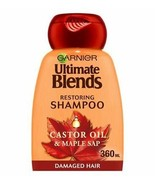 Garnier Ultimate Blends Maple & Castor Oil Shampoo 360ml - $11.57