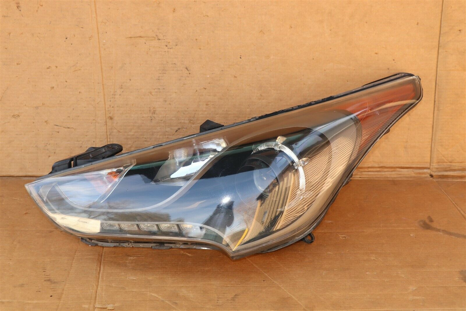 13-16 Hyundai Veloster Turbo Projector Headlight Lamp W/LED Driver Left LH