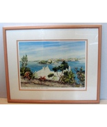 Hamilton from Harbour Road Bermuda  Pastel Painting- by C.Holding Signed... - $85.00