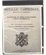 Metallic Ammunition Ordnance Memoranda No. 11 US Govt. 1879 book militar... - $16.00