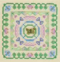Hummingbird II Cross Stitch Little Leaf Elizabeth/'s Designs Charm Floss OOP Bird