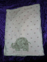 Baby Starters Elephant Blanket Gray Pink White Plush Soft Security Lovey - $24.74