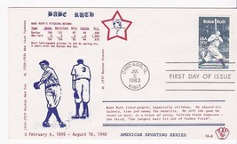 BABE RUTH #2046 CHICAGO, IL JULY 6, 1983 EC CACHET D-432 - ₹217.21 INR