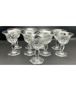 "9 HEISEY COLONIAL PANEL PRISCILLA Liquor COCKTAIL 4-1/4"" Tall 2-1/2 oz (... - $85.45"