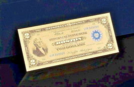 "☆ 1918 ""GOLD"" $2 DOLLAR Rep.*Banknote~STUNNING☆COLOR DETAIL☆ - $12.66"