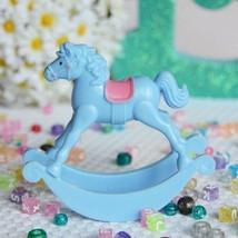 """Set of 2  Light Blue Rocking Horse 3.5""""Favor Baby Shower Table Decoration - $6.99"""