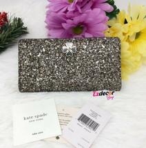 NWT Kate Spade Glitter Large Slim Bifold Wallet RoseGold  *FREE SHIPPING* - $59.00