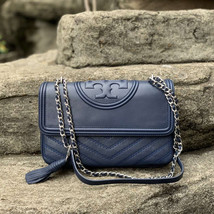 Tory Burch Fleming Distressed Convertible Leather Shoulder Bag - $420.00