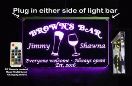 Wedding Sign, Bar Sign, Personalized - Multi-Color Changing - $142.00