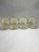8 pcs LENOX WESTWIND 6 1/4 inch Bread plate gold trim USA  Mid Century USA - $79.19