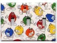 Primary image for Triple Light Switchplate Handmade of M&M'S® Paper