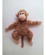 TY Monkey Ape Toy Brown Tan Fuzzy Soft Beanie Baby Plush Stuffed Animal 10""